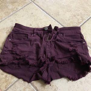 Maroon Pacsun festival shorts
